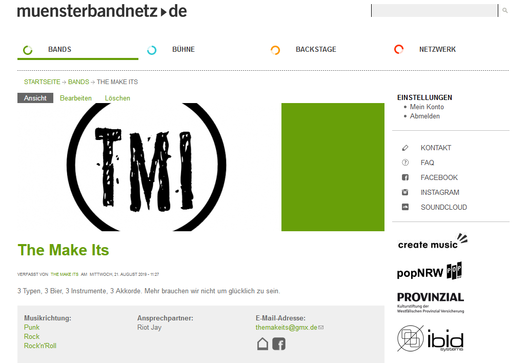 The Make Its bei muensterbandnetz.de